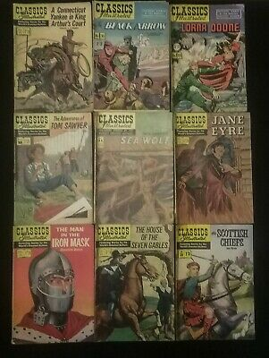 Classics Illustrated 9 Issues by The Worlds Greatest Authors From 30 to 39