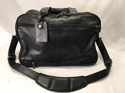 TUMI Alpha Large Napa Leather Briefcase Travel Carry-On Overnight Bag 18x13x9
