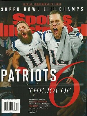 Sports Illustrated New England Patriots Joy of 6 Superbowl Champs 2019 No Label