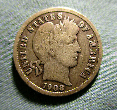 1908-S Barber Dime - 10 cents US silver coin