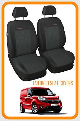 Fully tailored Van seat covers for Fiat Doblo Cargo 2009 - on  1+1 - (P1)