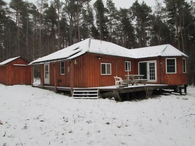 Beautiful Secluded Rustic Cabin Hideway With 12 Acres Of Woods Near Angelica, NY