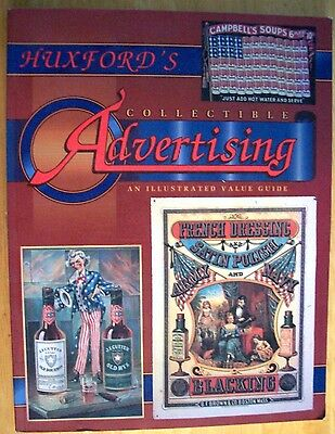 VINTAGE ADVERTISING PRICE GUIDE COLLECTOR'S BOOK signs cans bottles boxes mugs