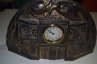 Unusual Art Nouveau antique mantle clock