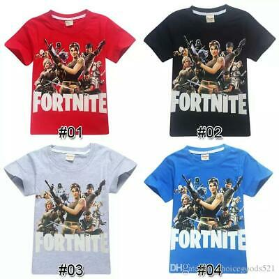 2019 Fortnite Fashion Summer Kids Clothes Casual Printed T-Shirts Short Sleeve