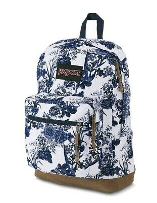 5cf1494e2 JanSport Right Expressions Laptop Backpack White Blue Artist Rose canvas 15
