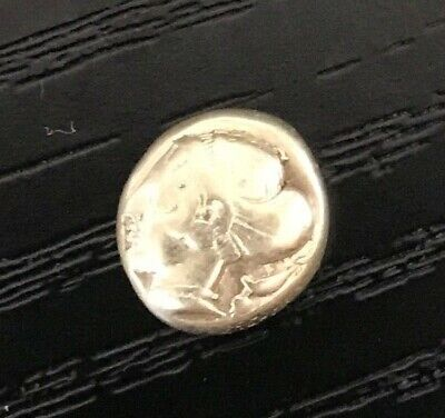 African Girl, Very Rare Ancient Greek GOLD coin EL. from Ionia. Phokaia