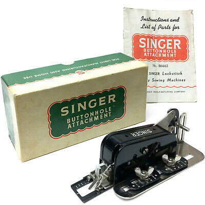 SINGER SIMANCO 86662 Buttonholer Attachment Low Shank 201 Featherweight 221 222