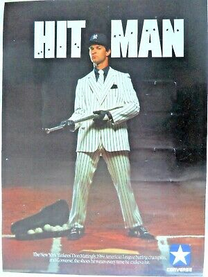 Don Mattingly Converse Hitman Poster Original Converse Hitman Poster Mattingly