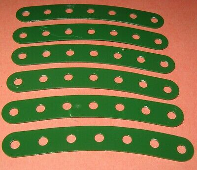"""Meccano Compatible Used Parts Curved Strips 3-1/2"""""""