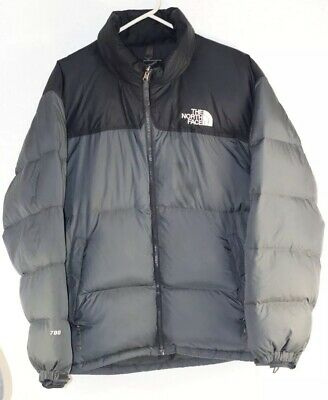 Vintage North Face Nuptse Puffer Goose Down 700 Jacket w  Hood Men s XL  Gray  23cc3e2bb
