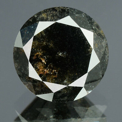 2.37 cts. CERTIFIED Round Brilliant Cut Black Color Loose Natural Diamond 14422
