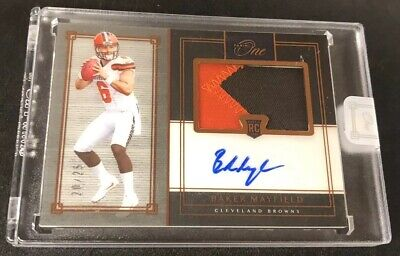 #20/25 BAKER MAYFIELD 2018 Panini ONE Premium Autograph Rookie Patch Auto RPA RC
