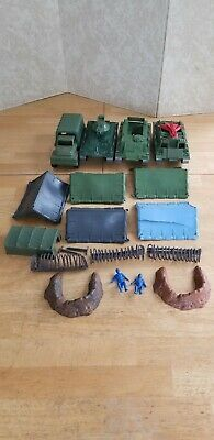 MPC Multiple Toymakers Battle Front Play Set Lot Vehicles, Tents, More