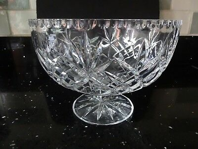 Cut Glass Crystal Fruit Bowl Or Centrepiece.
