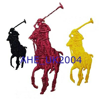 RALPH LAUREN (YELLOW) 7.0 X 2.9 cm EMBROIDERED IRON ON/SEW ON PATCH BADGE LOGO