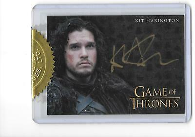 Game of Thrones Season 4 Kit Harrington as John Snow Gold 9 Case Incentive Auto