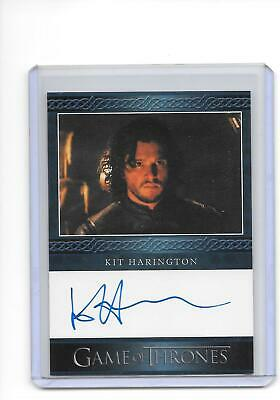Game of Thrones Season 5 Kit Harington as Jon Snow Blue Auto Autograph