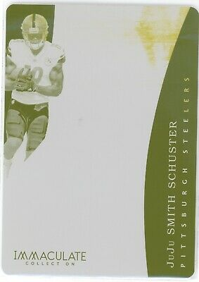 Juju Smith-Schuster 2017 Immaculate Rookie Yellow Printing Plate #1/1 Rc Bbt