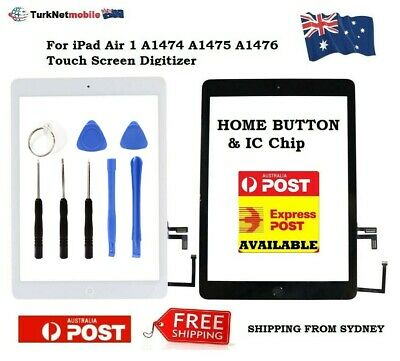 For iPad Air 1st Gen A1475 A1476 A1474 Touch Screen Digitizer Home Button