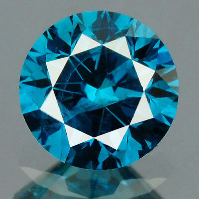 0.27 cts. CERTIFIED Round Cut Vivid Royal Blue Color Loose Natural Diamond 12046