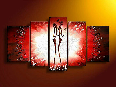 Large Modern Abstract Oil Painting on Canvas Contemporary Wall Art Framed aps074