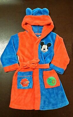 Disney's Mickey Mouse Robe Dressing Gown Size 4
