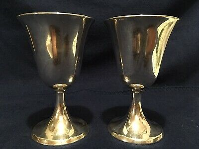 2 International Lord Saybrook Sterling Silver Goblets P703