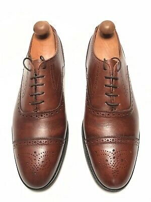 a6504d72477 Bostonian Iron Age Steel Toe Brown Leather Oxfords Made In USA - Mens Size  9 D