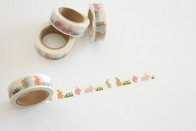 Pastel bunnies washi tape, Easter washi tape, rabbit washi, Planner accessories