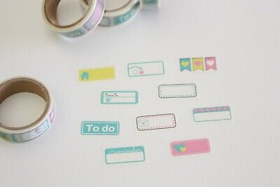 Planner reminder stickers, appointment stickers washi tape, serrated washi tape
