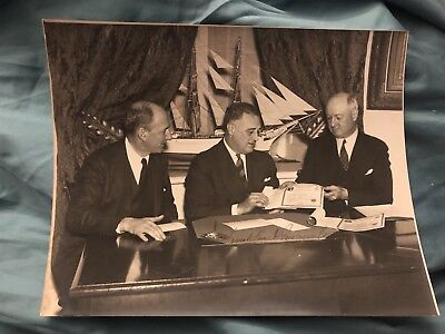 Early FDR , Henry Morgenthau And James Farley Autographed Photo