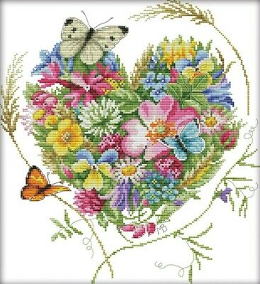 Butterflies Love Flowers (No.13) 14CT counted cross stitch kit. Craft brand new