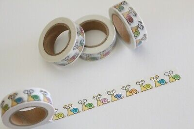 Pastel snails washi tape, snail emotions washi tape, Planner accessories
