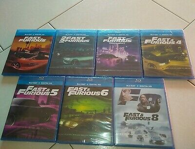 Fast And Furious 1,2,3,4,5,6,8 Lot  7 Dvd Blu Ray Digital Hd Neuf Sous Blister