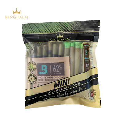 25 x King Palm Leaf Pre Rolls (MINI Size) (1 Pack - 25 Wraps)