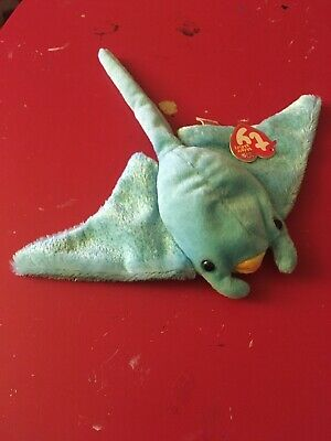 989bd0ad061 TY SUNRAY the MANTA RAY BEANIE BABY - MINT with MINT TAGS