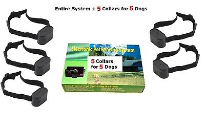 Ultimate 5 Dog Barrier Fence - 1 system with 5 connected collars