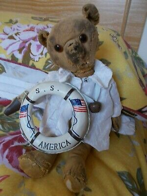"US / ""SS America"" Solid Life Buoy - Lovely Display Piece for Bears"