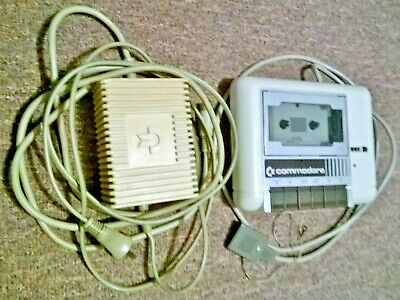 Commodore 64 Power Supply / Adapter  & Datassette tape deck with booklet