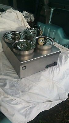 Parry 1928 dry well Bain Marie 4 stainless steel pots