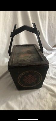 Hand Painted Antique Shanxi Basket