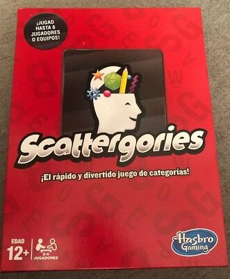 Game Hasbro Scattergories Spanish Complete Boxed Sealed Contents