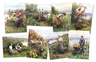 96 Assorted Garden Art Greeting Cards - Flowers, France, Victorian Wholesale