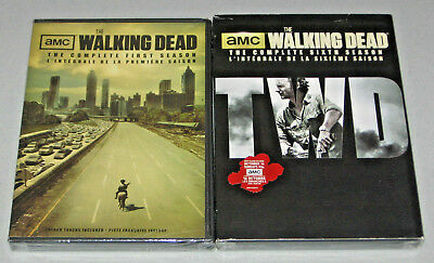 The Walking Dead: Complete First and Sixth Seasons - DVD LOT - FREE SHIPPING