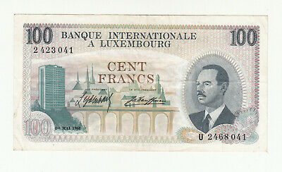 Luxembourg 100 francs 1968 circ. p14 @ low start