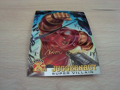 Fleer Ultra X-Men Chromium - Gold Signature - Juggernaut