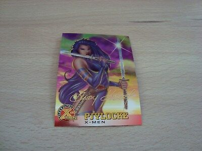 Fleer Ultra X-Men Chromium - Gold Signature - Psylocke