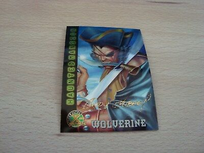 Fleer Ultra X-Men Chromium - Gold Signature - Haunted Mansion Wolverine