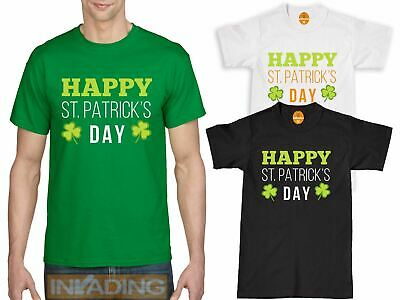 St Patricks Day Happy Mens Kids T-Shirt Irish Paddys Ireland Boys Gilrs Tshirt